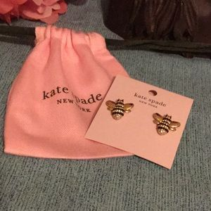 Kate Spade Picnic Perfect Pave Bee Studs NWT